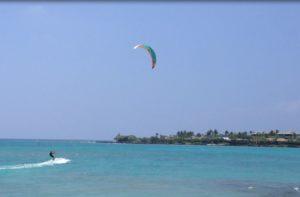 Kite Surfing Anaeho'omalu Bay at Lava Lava Beach Club