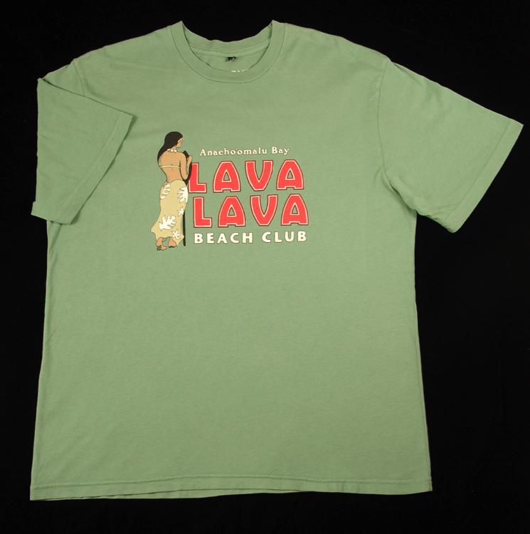 Lava Beach Club Logo T Shirt Green