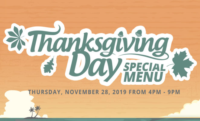 Thanksgiving Menu LLBC 2019