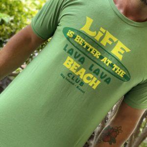 Mens green lift shirt