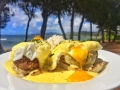 Eggs Benedict on the Beach